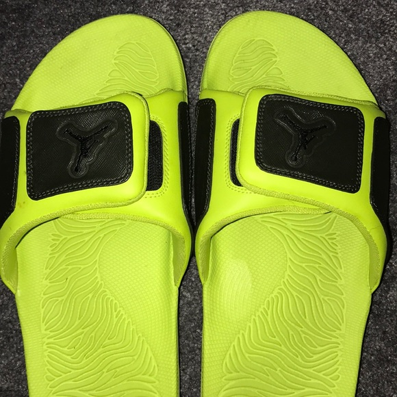 wholesale dealer 8e686 32dd1 Jordan Other - Jordan lime green and black sandals, men s size 11